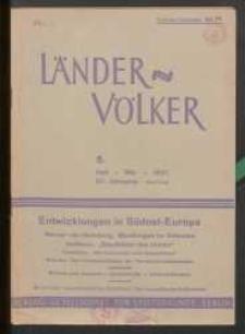 Länder und Völker, 5. Heft/Mai 1937