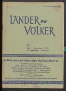 Länder und Völker, 11. Heft/November 1937