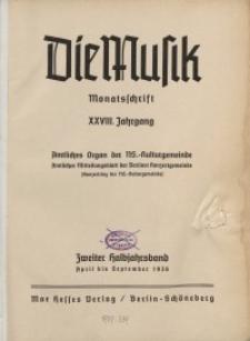 Die Musik : Monatsschrift, 1936, Jg. XXVIII.