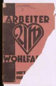 Arbeiter-Wohlfahrt, Heft 7, April 1933