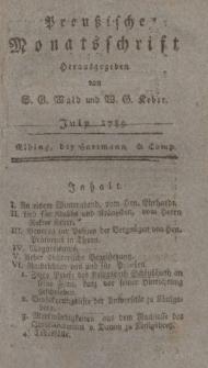 Preußische Monatsschrift, Juli 1789