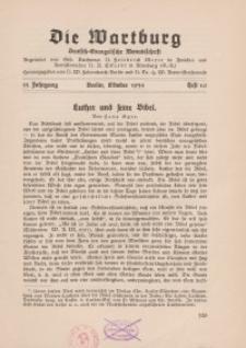 Die Wartburg. Deutsch-evangelische Monatsschrift, Heft 10, Oktober 1934