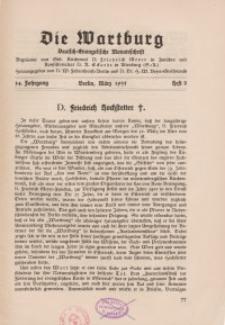 Die Wartburg. Deutsch-evangelische Monatsschrift, Heft 3, März 1935