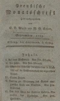 Preußische Monatsschrift, September 1789