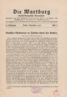 Die Wartburg. Deutsch-evangelische Monatsschrift, Heft 11, November 1935