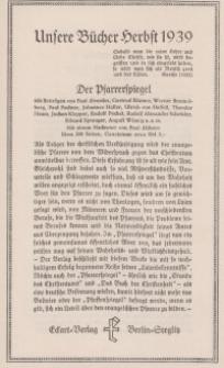 Unsere Bücher Herbst 1939 [ulotka reklamowa]
