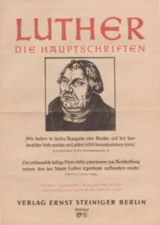 Luther. Die Hauptschriften [ulotka reklamowa]