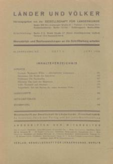 Länder und Völker, 6. Heft/Juni 1936