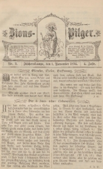 Zions-Pilger Nr. 2, 1. November 1894, 4 Jahr.