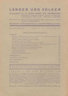 Länder und Völker, 10. Heft/Oktober 1936