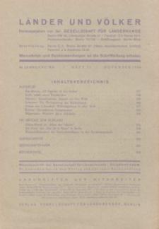Länder und Völker, 11. Heft/November 1936