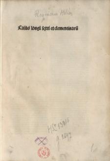 Casus longi super sexto et Clementinis