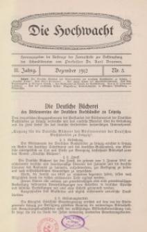 Die Hochwacht : Monatsschrift zur Pflege der geistigen und sittlichen Volksgesundheit, 3. Jg., 1912, H. 3.