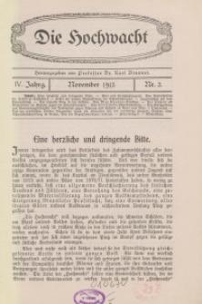 Die Hochwacht : Monatsschrift zur Pflege der geistigen und sittlichen Volksgesundheit, 4. Jg., 1913, H. 2.