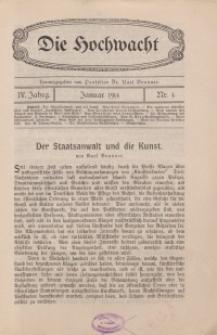 Die Hochwacht : Monatsschrift zur Pflege der geistigen und sittlichen Volksgesundheit, 4. Jg., 1914, H. 4.