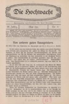 Die Hochwacht : Monatsschrift zur Pflege der geistigen und sittlichen Volksgesundheit, 4. Jg., 1914, H. 8.
