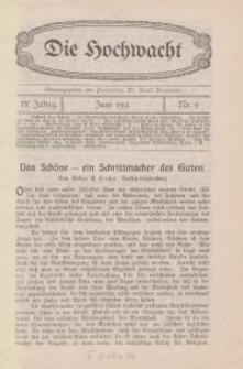 Die Hochwacht : Monatsschrift zur Pflege der geistigen und sittlichen Volksgesundheit, 4. Jg., 1914, H. 9.
