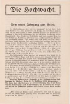 Die Hochwacht : Monatsschrift zur Pflege der geistigen und sittlichen Volksgesundheit, 5. Jg., 1914, H. 1.
