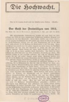 Die Hochwacht : Monatsschrift zur Pflege der geistigen und sittlichen Volksgesundheit, 5. Jg., 1914, H. 3.