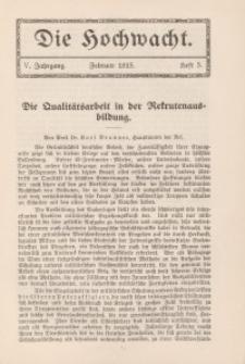 Die Hochwacht : Monatsschrift zur Pflege der geistigen und sittlichen Volksgesundheit, 5. Jg., 1915, H. 5.