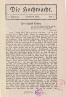 Die Hochwacht : Monatsschrift zur Pflege der geistigen und sittlichen Volksgesundheit, 6. Jg., 1915, H. 2.