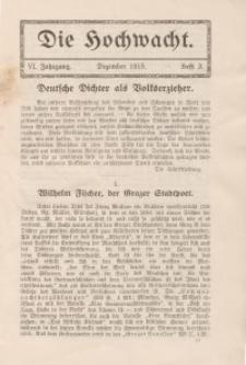 Die Hochwacht : Monatsschrift zur Pflege der geistigen und sittlichen Volksgesundheit, 6. Jg., 1915, H. 3.