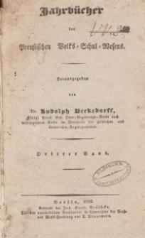 Jahrbücher des preußischen Volks-Schul-Wesens, Bd. 3