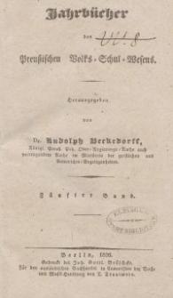 Jahrbücher des preußischen Volks-Schul-Wesens, Bd. 5