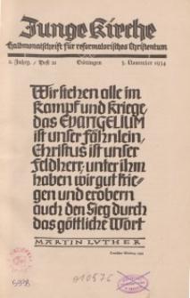 Junge Kirche, 1934/ Heft 21