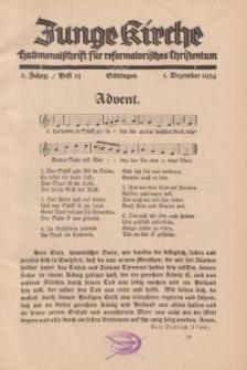 Junge Kirche, 1934/ Heft 23