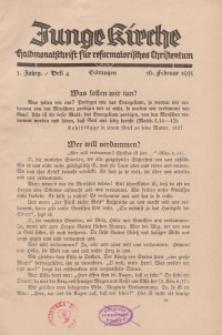 Junge Kirche, 1935/ Heft 4