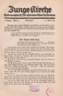 Junge Kirche, 1935/ Heft 14