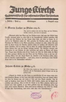 Junge Kirche, 1935/ Heft 15