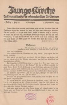 Junge Kirche, 1935/ Heft 17