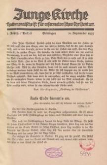 Junge Kirche, 1935/ Heft 18