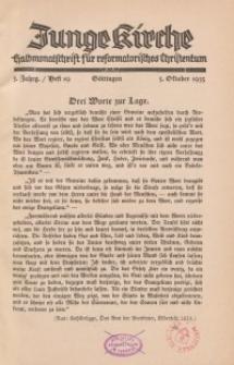 Junge Kirche, 1935/ Heft 19