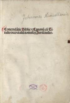 Concordantiae Bibliae et Canonum