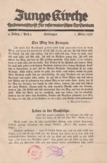 Junge Kirche/ 1936, Heft 5