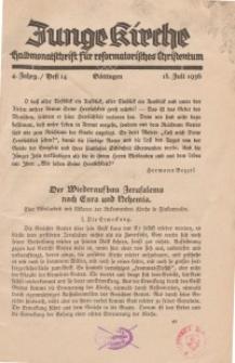 Junge Kirche, 1936/ Heft 14