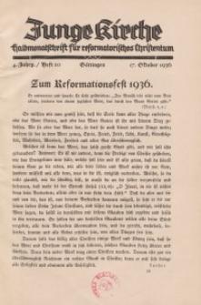 Junge Kirche, 1936/ Heft 20