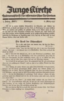Junge Kirche, 1937/ Heft 5