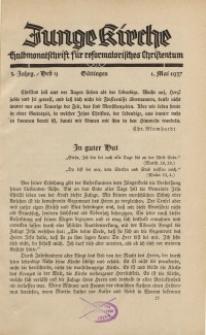 Junge Kirche, 1937/ Heft 9