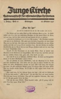 Junge Kirche, 1937/ Heft 20