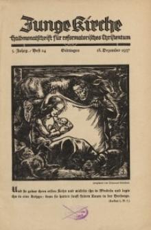 Junge Kirche, 1937/ Heft 24