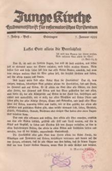 Junge Kirche, 1939/ Heft 1