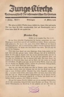 Junge Kirche, 1939/ Heft 6