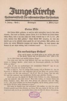 Junge Kirche, 1940/ Heft 5