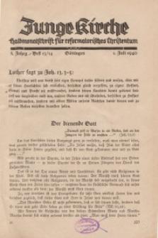 Junge Kirche, 1940/ Heft 13/14