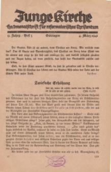 Junge Kirche, 1941/ Heft 5