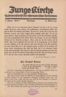 Junge Kirche, 1941/ Heft 6